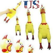USA Squeeze Shrilling Screaming Rubber Chicken Pet Dog Bite Toy Squeaker Chew