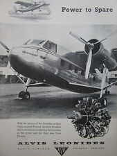 8/1955 PUB ALVIS LEONIDES AERO ENGINE SCOTTISH AVIATION TWIN PIONEER ORIGINAL AD