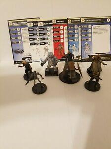 Star Wars Miniatures Swoop Bike & Ig-86 Assassin Droid Fringe Team Builder Lot