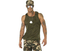 UNISEX MEN WOMEN ARMY MILITARY ACCESSORY KIT HAT GLASSES DOG TAG FANCY DRESS
