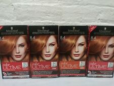 4 ~ Schwarzkopf Color Ultime Flaming Reds Hair Color 8.4 Light Copper Red Read!