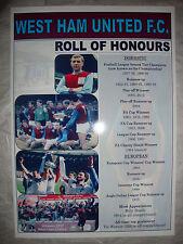 West Ham United Club Historia Rollo de honores-Souvenir de impresión