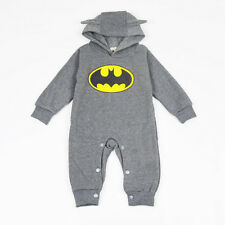 Toddler Baby Boy Batman Hooded Romper Jumpsuit Bodysuit Casual Tracksuit Outfits