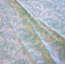Stoff Meterware Baumwolle natur Dschungel celadon türkis  Frankreich Deko 2017