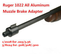 US! Ultra-Lite Ruger 1022 10/22 Thread Muzzle Barrel Adapter, 1/2x28 and 5/8x24