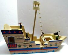 Melissa and Doug Deluxe Large Wooden Pirate Ship Play Set with Pirates & Ladder
