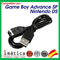 CABLE USB PARA NINTENDO GAME BOY ADVANCE SP / DS NDS ANTIGUA DE PARED RED GBA