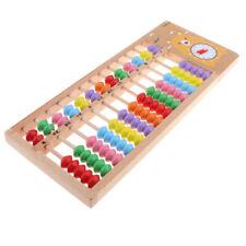 Mini 13 tiges de colonne en bois coloré Abacus Soroban jouet pour enfants