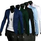 Hot Sale! New Stylish Men's Casual Slim Fit One Button Suit Blazer Coat Jackets