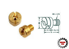 Motorcycle Scooter Mikuni Round Slot Brass Main Jet - All Sizes Available