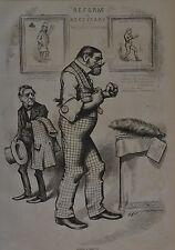 Harper's Weekly, 1876. Thomas Nast. Putting a Head On. Wood Engraving.