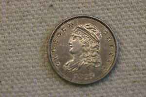 1829 Capped Bust  Half Dime. First Year of Issue for the Type. Unc. details