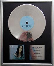 "Cher - believe CD Cover + 12"" Vinyl goldene / platin Schallplatte"