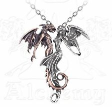 The Chemical Wedding Married Angel & Demon Pendant Necklace Alchemy Gothic P453