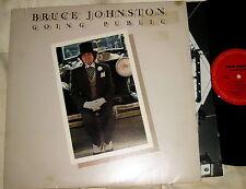 BRUCE JOHNSTON - GOING PUBLIC - COLUMBIA 1977 BEACH BOYS - W/ INNER TOP COPY
