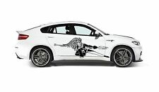 TRIBAL ANIME GIRL SWORD CAR TRUCK SIDE DECAL GRAPHIC VINYL STICKER