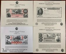 United States American Bank Note Souvenir Cards SO22-25 1982 Mint