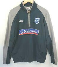 Umbro Men's England Fleece Zip Mock Neck Football Training Top Track Jacket