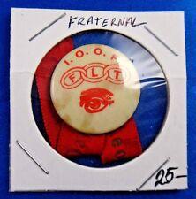 Odd Fellows FLT Fraternal Pin Pinback Button Ribbon