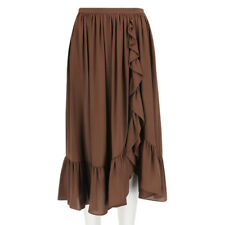 Michael Kors Collection Cocoa Brown Floaty Silk Crepe Skirt US2 UK6