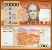 Chile, 20000 (20,000) Pesos, 2014, P-165-New, UNC