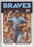 1986 Topps Baseball Atlanta Braves Team Set