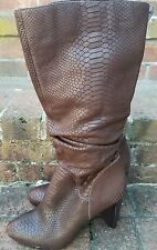 Carlos by Carlos Santana Shoes Infatuation Slouch Tall Boots Brown 8 1/2 Leather