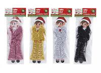 Elf / Elves Behavin' Badly Christmas Celebrity Sequin Dressing Gown Coat Outfit