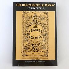 1973 The Old Farmer's Almanac Jigsaw Puzzle Vintage Gameophiles New In Plastic