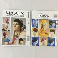McCalls Fashion Accessories Pattern M6521 4116 Turbans Headwrap Hats Headband