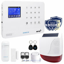 HOMSECUR 3G Burglar Alarm with RFID, APP Phone Control, Solar Flash Siren Box