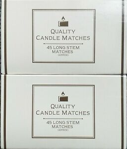 Candle Matches 2 Packs 90 Long Stem Safety Matches Candles Fires Ovens Stoves
