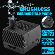 250L/h Mini Brushless Submersible Water Pump Aquarium Pond Fish Tank Garden