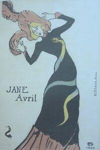 Henri de Toulouse-Lautrec, Jane Avril 1899, Large Exhibition Art Print.