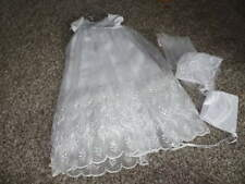 NWT NEW ANGELA WEST 6M 6 MONTHS CHRISTENING GOWN DRESS W 2 BONNET