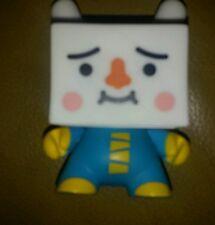 Kidrobot Dunny 2009 Vinyl Blue Tofu Square Head Devil Robots  Figure Toy