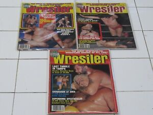 WRESTLER MAGAZINES (3) TOTAL ALL IN GOOD CONDITION