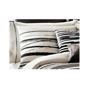 Kenneth Cole Willow Woven Jacquard Standard Sham Cream Gray Black Bold Stripes