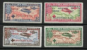 SPAIN 1927 Complete Series 4 new stamps **..XXV ANNIVERSARY CORONATIO.....(7344)