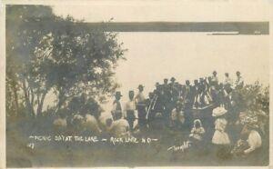 Rockland North Dakota Picnic at Lake Wright 1909 RPPC Photo Postcard 21-4742