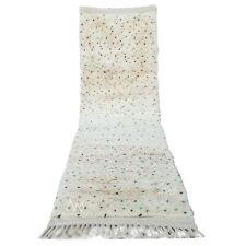 """PREMUIM Moroccan Boucherouite AZILAL runner rug handmade carpet 9'8"""" x 3'1"""" rug"""