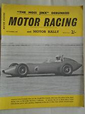Motor Racing & Motor Rally Sep 1959 German GP