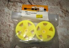 HPI TRUCK WHEELS REAR YELL F5 W/ ADAPT ALSO FIT ASSOCIATED KYOSHO & TAMIYA 3049