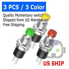 NEW Push Button RED GREEN YELLOW Switch Momentary On/ OFF Push Button
