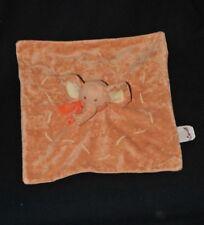 Peluche doudou éléphant plat BENGY AMTOYS 2006 orange écharpe TTBE