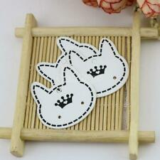 100Pcs Hanging Holder Jewelry Earring Display Cardboard Paper Hang Cards Cat Tag