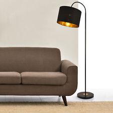 [lux.pro] Stehleuchte 173cm Stehlampe Standleuchte Stand Lampe Metall Schwarz