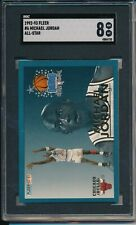 MICHAEL JORDAN 1992-93 FLEER NBA ALL-STAR #6 GRADED SGC 8