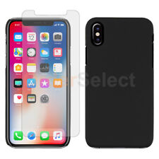 For Apple iPhone X Case Slim Hard Plastic Protective Cover+LCD Screen Protector