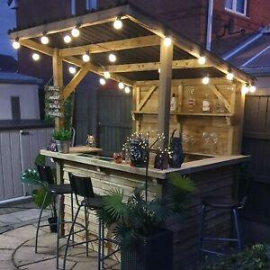 Garden Bar - Outdoor Wooden Bar, Fully Treated, Outside Home Bar - DIY Bar Kit